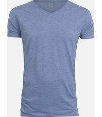 basic t-shirt - melerad ljusblå