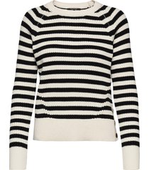 chunky cotton blend knit with button detail at side gebreide trui beige scotch & soda
