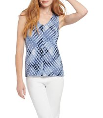 women's nic+zoe crossover tie dye tank top