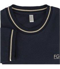 camiseta en algodón azul sorrento - figo