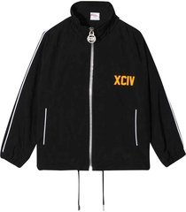 gcds mini black jacket with rear logo