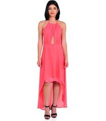 vestido halter de mujer vestimenta vw174-1117-786 rosa