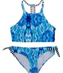 bikini high neck azul h2o wear