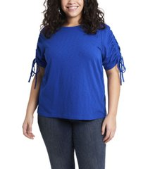 1.state women's plus size ruched tie tee