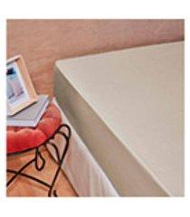 lencol com elastico percal total mix tinto artex - casal - bege