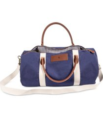 cathy's concepts personalized canvas and leather duffle bag