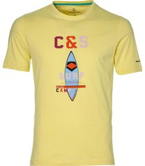 colours & sons t-shirt - slim fit - geel