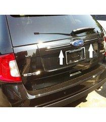 chrome rear trunk hatch trim molding for ford edge 2011 2012 2013 2014