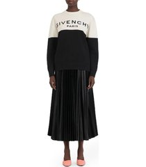 givenchy bicolor logo sweater
