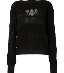 barrie logo embroidered sweater - black