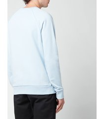 balmain men's eco design flock sweatshirt - pale blue/white - xl