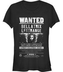 fifth sun harry potter bellatrix lestrange wanted poster women's short sleeve t-shirt