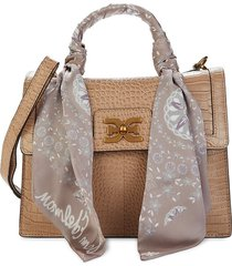 sam edelman women's dottie leather satchel - toasted almond