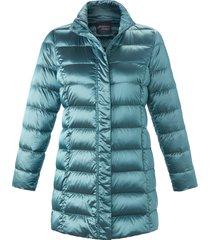 gewatteerde jas met staande kraag van persona by marina rinaldi turquoise