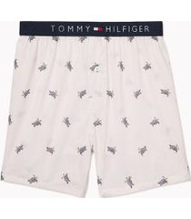 tommy hilfiger men's character print boxer sea turtle on pale lilac - xxl