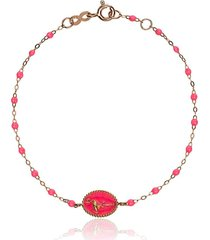 gigi clozeau 18k rose gold classic gigi pink flamingo bracelet