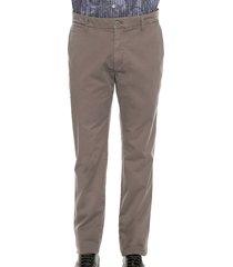 pantalon college gris preppy chino 98% algodón 2% elastano bota 19