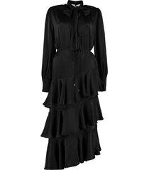 zimmermann espionage silk flounced dress