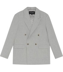 boxed suit blazer - off white