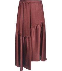 rochas rear zipped asymmetric skirt