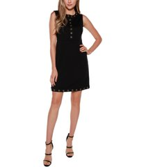 belldini black label embellished sleeveless fitted dress