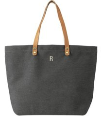 cathy's concepts personalized washed canvas tote