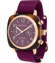 briston watches clubmaster classic 40mm watch - cardinal grape