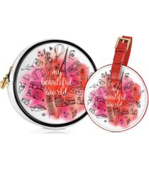 receive a free cosmetics pouch and travel tag with $74 elizabeth arden purchase!