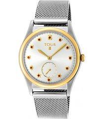 reloj free bicolor acero ip dorado tous