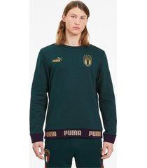 italia ftblculture sweater voor heren, goud, maat l | puma