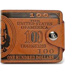 portafoglio borsetta portamonete unisex in pelle pu con 9 portacarte