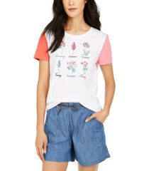 tommy hilfiger cotton botanical graphic t-shirt