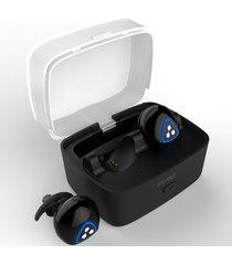 audífonos bluetooth manos libres inalámbricos, d900s deportes audifonos bluetooth manos libres  inalámbrico 4.0 auriculares apt-x ipx4 impermeable earbud (negro)