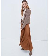motivi giacca in maglia lurex donna marrone