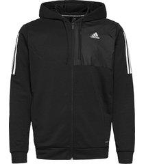 m mh aero fz hoodie trui zwart adidas performance