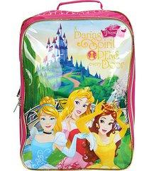 mochila escolar infantil dermiwil princesas cenário