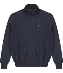 sweater winter navy heather polo ralph lauren ml abierto cremallera ppc pima cotton