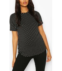 maternity polka dot t-shirt, black