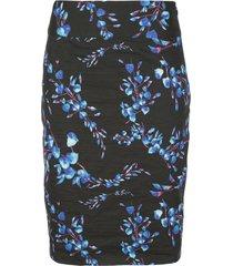 nicole miller blossom skirt - black