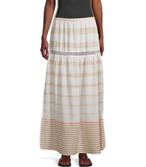 pq women's mila striped skirt - tan - size m/l