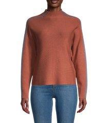 saks fifth avenue women's striped sweater - classic camel - size xs