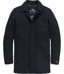 donkerblauwe heren jas trench vanguard - vja176311