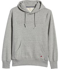 men's superdry sportstyle embossed men's hooded sweatshirt, size x-large - grey
