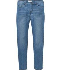 jeans elasticizzati con poliestere riciclato regular fit tapered (blu) - john baner jeanswear
