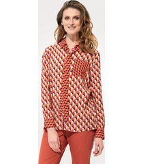 blouse mona terracotta::ecru::violet