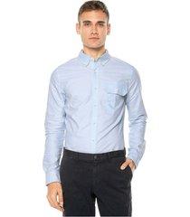 camisa azul calvin klein