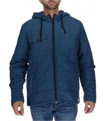 chaqueta foundation interior quilt jacket nylon azul petróleo cat