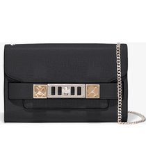proenza schouler chain ps11 clutch 0000 black one size