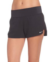 women's nike swim board shorts, size medium - black