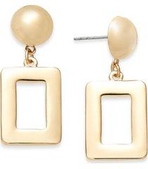 alfani gold-tone square drop earrings, created for macy's